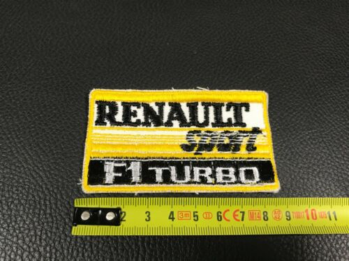 ECUSSON BRODE EMBROIDERED PATCH RENAULT F1 TURBO  SPORT FORMULE 1