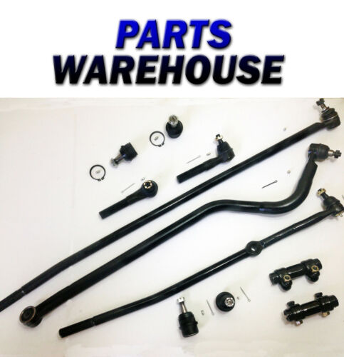 11 Piece Kit Upper & Lower Ball Joints, Drag Links, Tie Rod Ends, and Adjusti