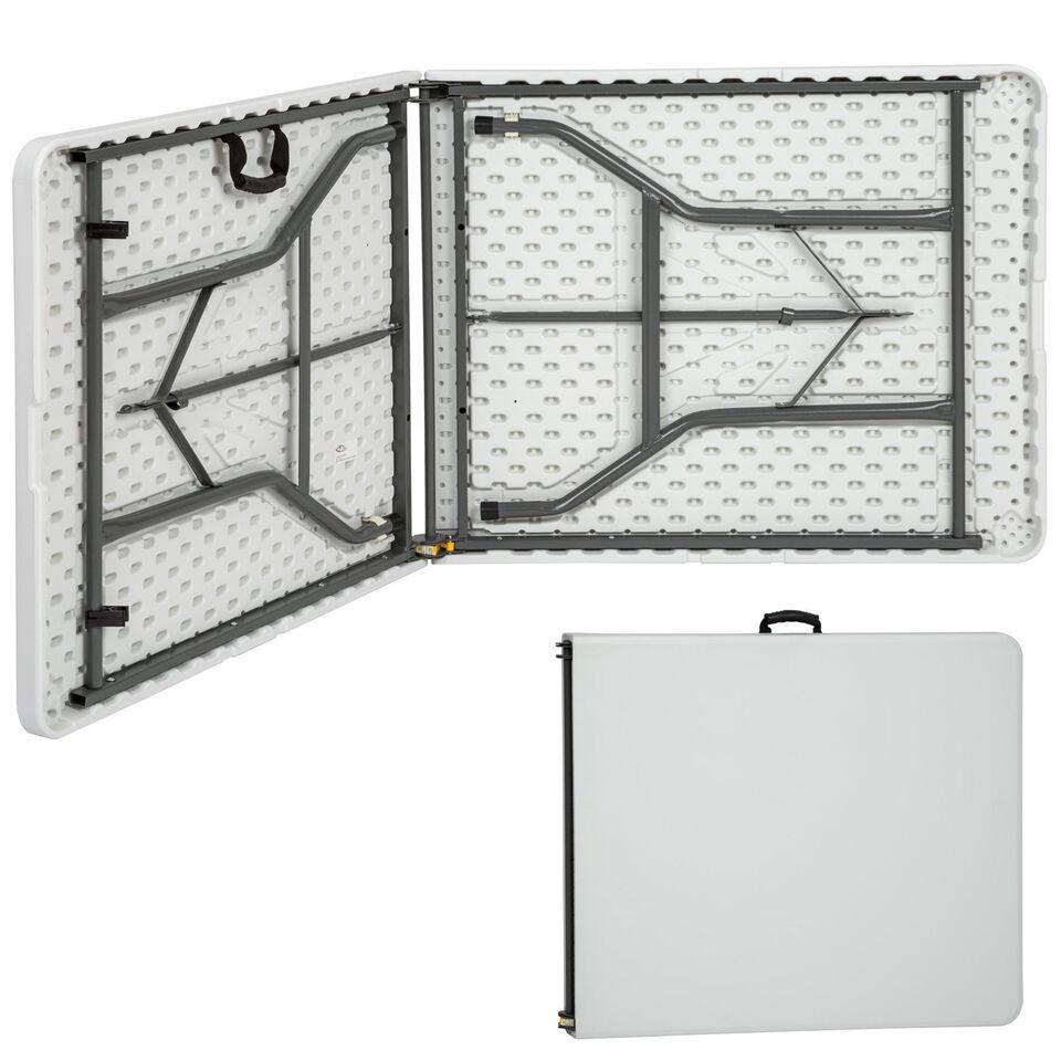 Campingbord foldbar hvid