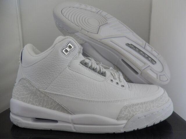 d6fd25a7307 Nike Air Jordan III 3 Retro White 25th Aniversary Pure Money 398613 ...
