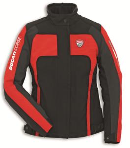 Ducati-Damen-Corse-Tex-2-Stoffjacke-Schwarz-Rot-Groesse-48