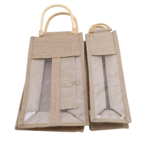 Wine Bottle Cover Champagne Burlap Sleeve Bag Single And Two Bottles Wrap CB