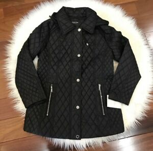 Women S New London Fog Quilted Black Jacket Size M Ebay