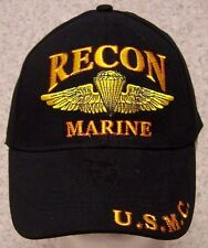Embroidered Baseball Cap Military USMC Marine Recon NEW 1 hat size fits all