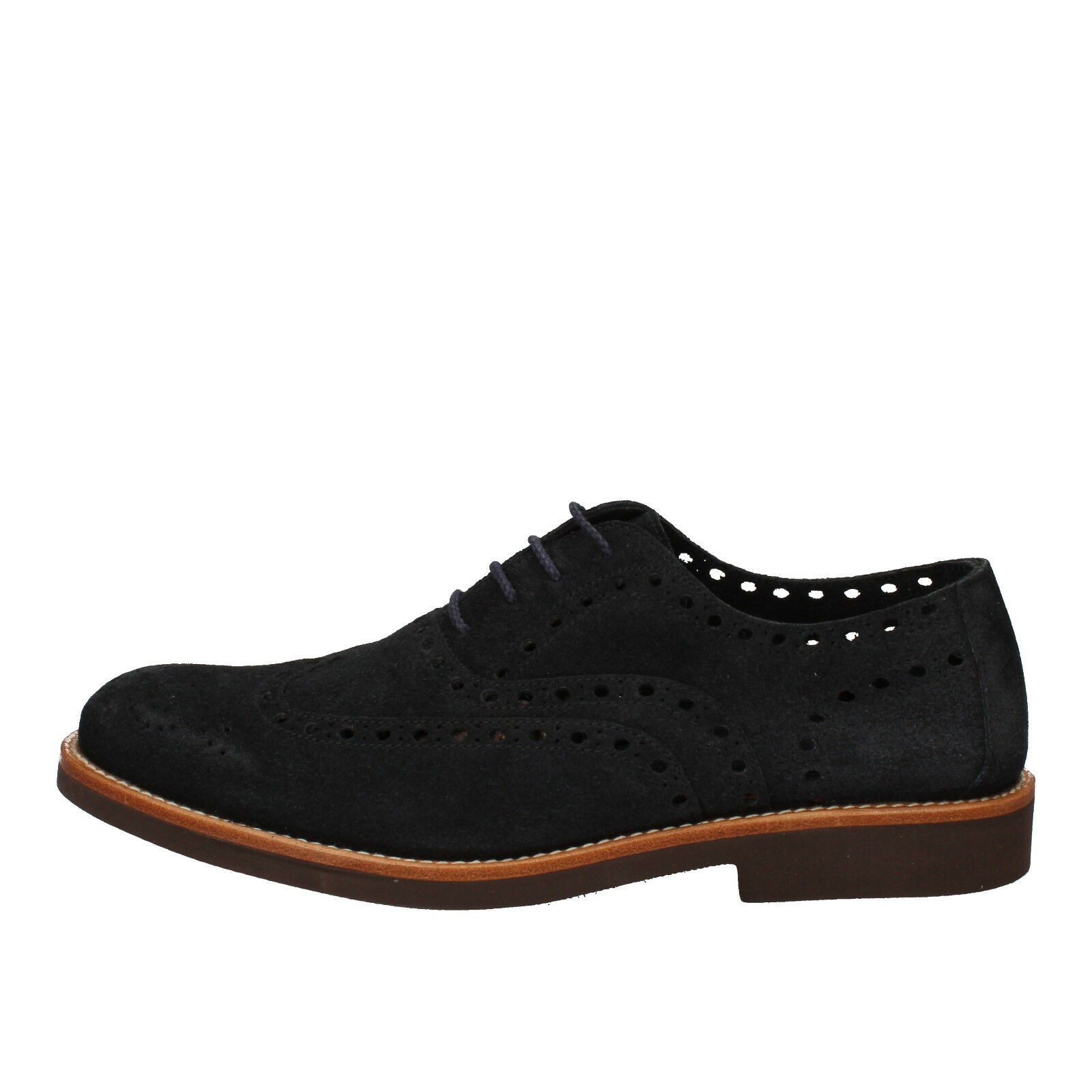 Men's shoes DI MELLA 11 () elegant bluee suede AD229-H