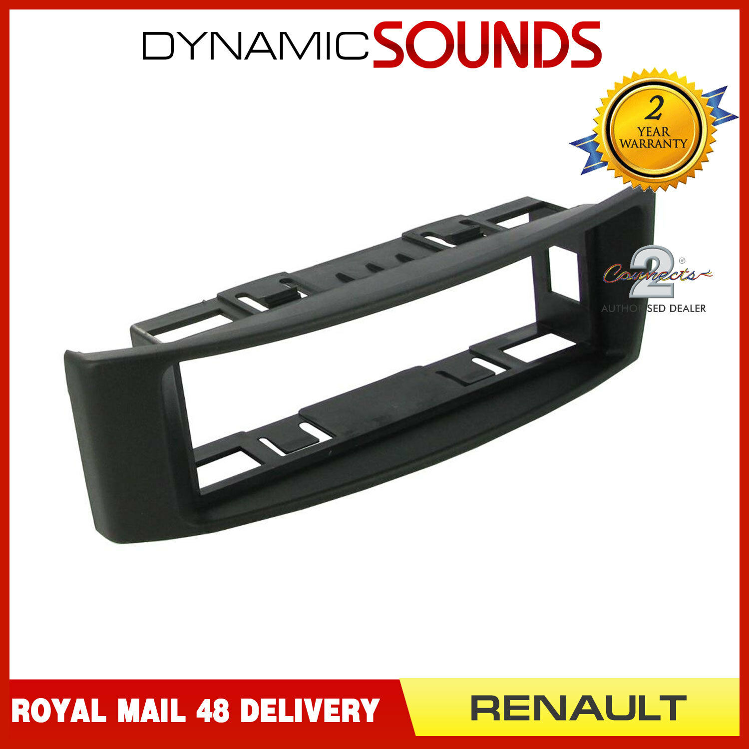 CT24RT12 RENAULT MEGANE 2009 to 2015 BLACK SINGLE DIN FASCIA ADAPTER PANEL PLATE