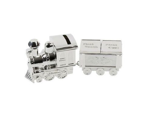 MY FIRST TOOTH//CURL SILVER PLATED TRAIN /& CARRIAGE TRINKET BOX KEEPSAKE GIFT