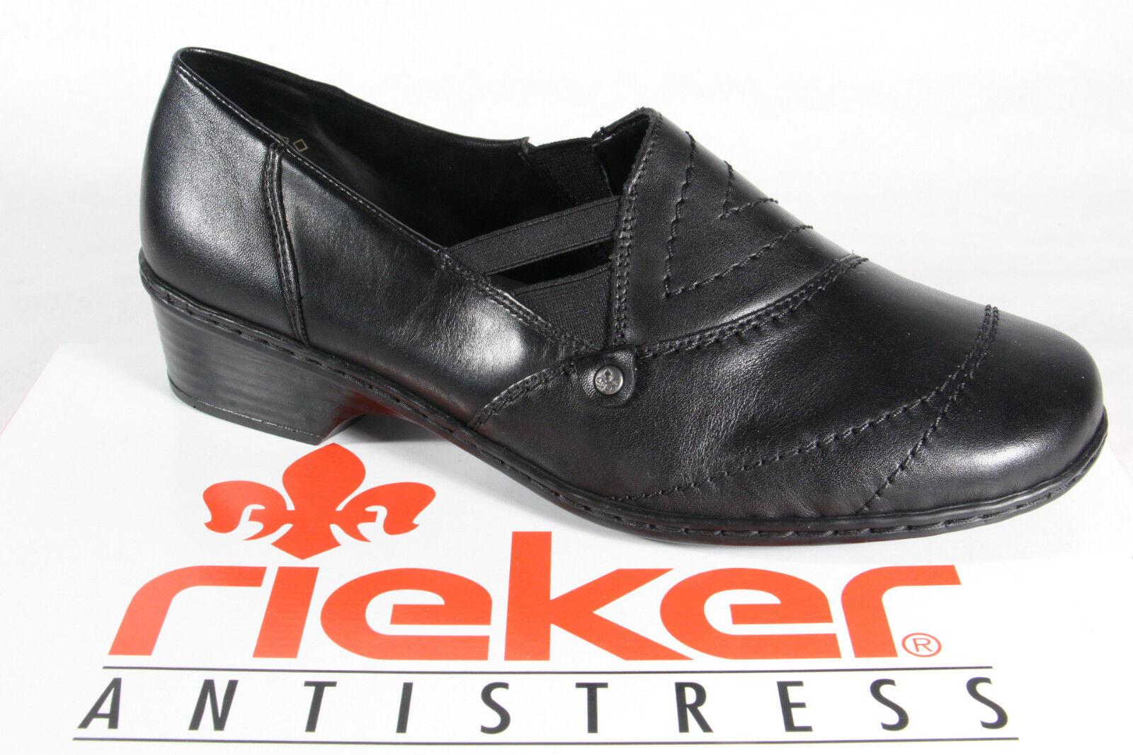 Rieker Mocassins, Chaussures Basses, Ballerine, Noir Cuir 48260 48260 48260 Neuf 66577d