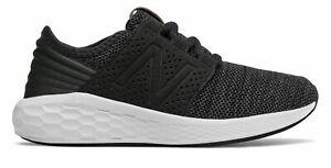 New-Balance-Kid-039-s-Fresh-Foam-Cruz-Knit-Big-Kids-Male-Shoes-Black-with-Grey-Size