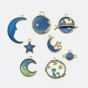 Multi-Cute-Moon-Star-Planet-Enamel-Pendant-For-DIY-Earrings-Bracelet-Craft