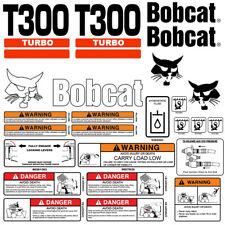 Bobcat T300 Turbo Skid Steer Set Vinyl Decal Sticker 25 Pc Set Free Applicator