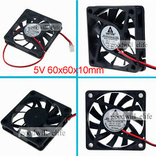 Top DC 5V 6CM 60mm 60x60x10mm 6010s brushless Cooler Cooling Fan 2pin heatsink