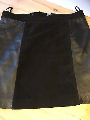 Fake skind nederdel, str. 38, Vila, Sort, Fake