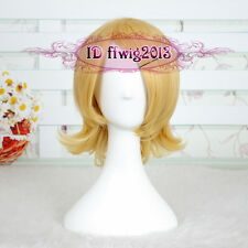Vocaloid Kagamine Magnet Rin Len Gloden Cosplay Short wig CC160+a wig cap