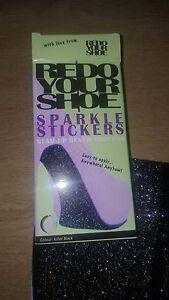 redo glam up your shoes bag belt crafts black sparkle stickers