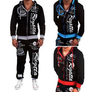 2PCS-Men-Tracksuit-Jogging-Top-Bottom-Sport-Sweat-Suit-Hoodie-Trousers-Pants-Set
