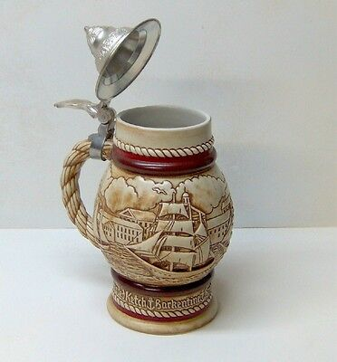 1977 Avon Handcrafted Collectible Beer Stein Sailing Ships Schooners