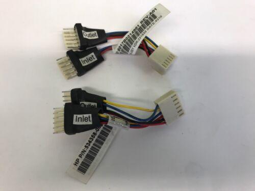 LOT OF 2 HP FAN CABLE SPLITTER FOR PROLIANT DL180 G6 536646-001 534358-001