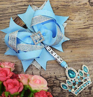 Personalised stunning pram charm in baby Royal girls boys rhinestone bling