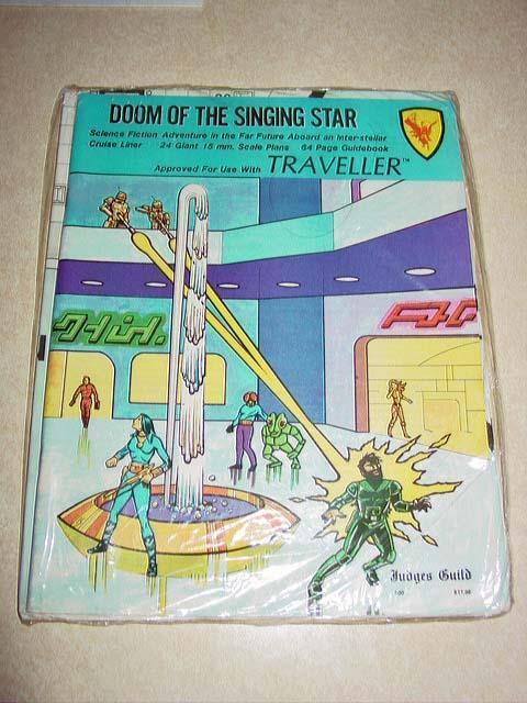 Judges Guild-Doom of the Singing Star-Science Fiction Adventure-Vintage