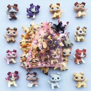 5pcs Lot Random Lps Collie Dogshorthair Cat Littlest Pet Shop Toy