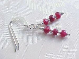 Faceted-Ruby-Earrings-Minimalist-Stack-Sundance-Sterling-Silver-July-Birthstone