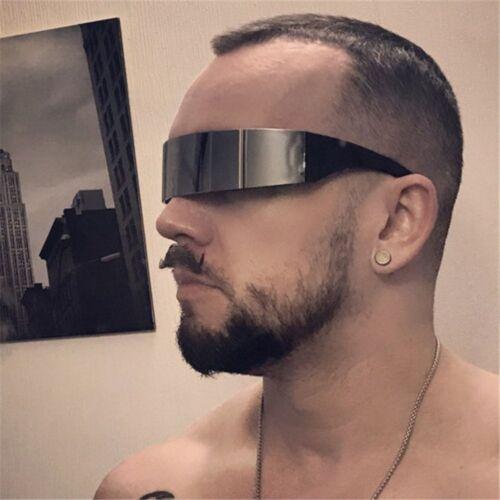Futuristic Sunglasses Mirrored Lens Glasses Narrow Lens Robot Robocop Sunglass