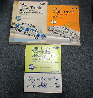 1981 Ford Light Truck Bronco Econoline F-100 Service Repair Shop Manual Set