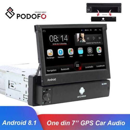 1DIN RADIO DE COCHE ANDROID 8.1 GPS NAVI WIFI PANTALLA TÁCTIL FM USB BT MP5