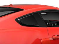 Mustang Gt Quarter Window Scoops Matte Black Roush Style 2015, 2016, 2017