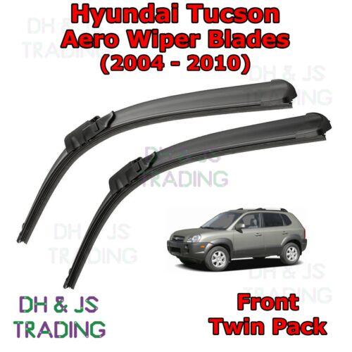 04-10 Hyundai Tucson Aero Wiper Blades//Hoja Plana Parabrisas Frontal Limpiaparabrisas