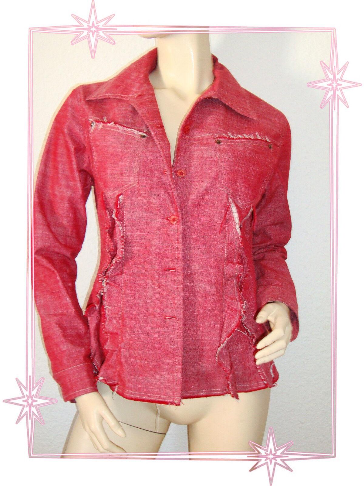 E -  Veste Surchemise Fantaisie red  pink 2026 size 1 36 - 38