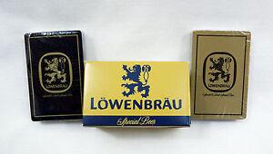 Vintage 1970/'s Lowenbrau Beer Blue Playing Cards Deck