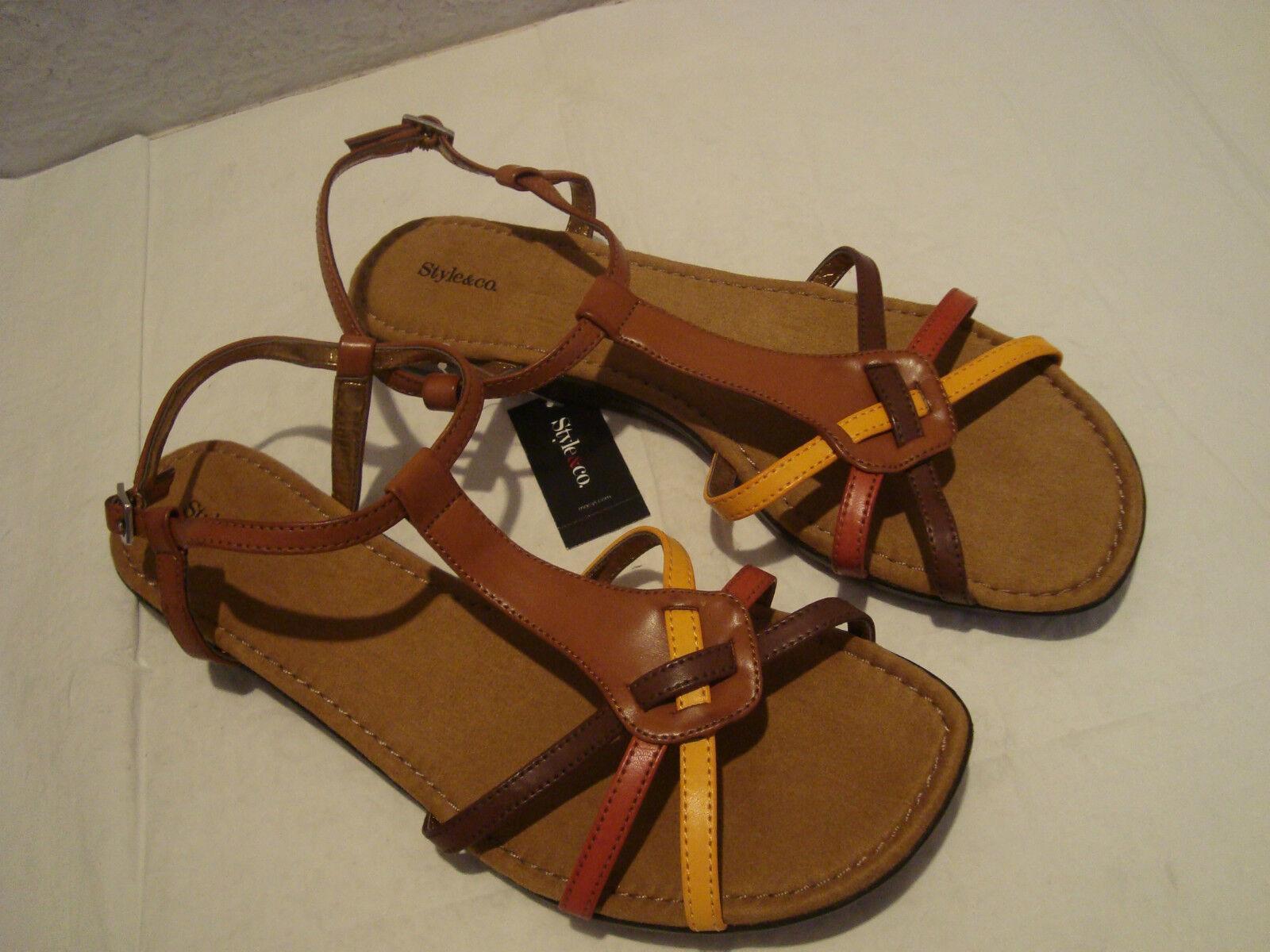 NEU Style & Co Damenschuhe Zelda Multi Farbe Sandales Schuhes 6 Medium