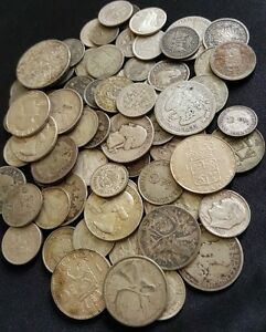 World-Silver-Coins-from-Huge-Hoard-Old-Antique-Coins-Money-1-COIN
