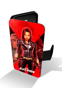 Black-Widow-Red-Poster-Marvel-Avengers-Wallet-Leather-Phone-Case