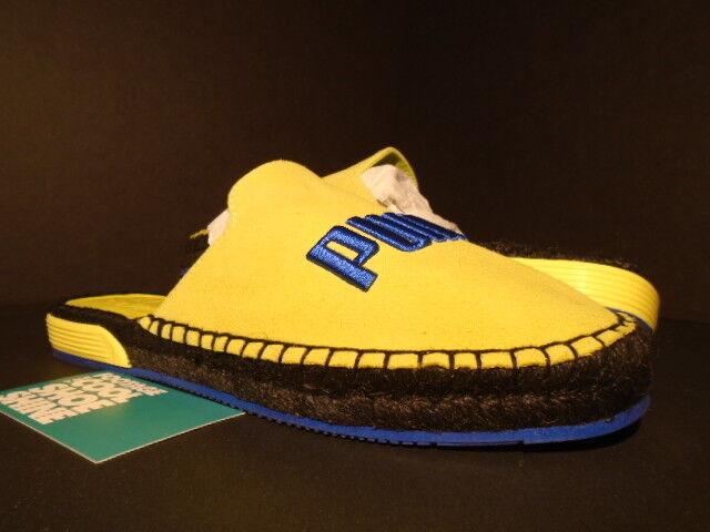 Women PUMA Fenty Espadrille Wns Rihanna Slippers Slides Yellow Blue Black 9.5