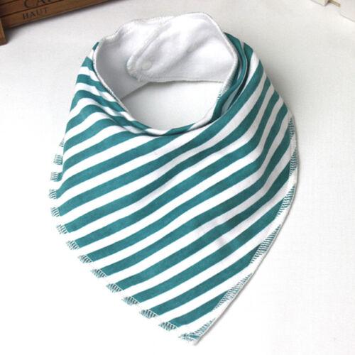 Baby Kids Girl Boy Striped Bandana Bibs Feeding Saliva Towel Triangle Waterproof