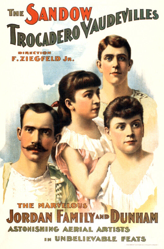 Vintage Circus POSTER.Stylish Graphics.Vaudevilles family.Room Decor.598
