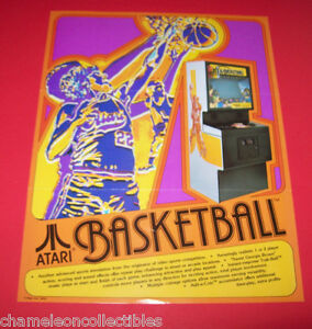 BASKETBALL-By-ATARI-1979-ORIGINAL-VIDEO-ARCADE-GAME-ADVERTISING-SALES-FLYER