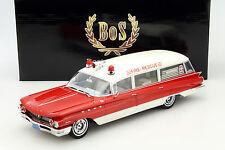 Buick Flexible Premier Ambulance Baujahr 1960 rot / weiß 1:18 BoS-Models