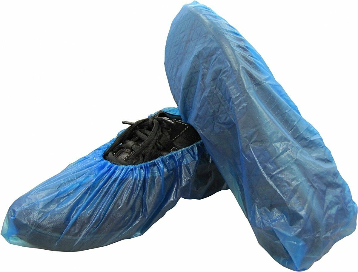 Shield Safety Corrugated Polyethylene bluee shoes Cover 2.8g (8000 Pieces)