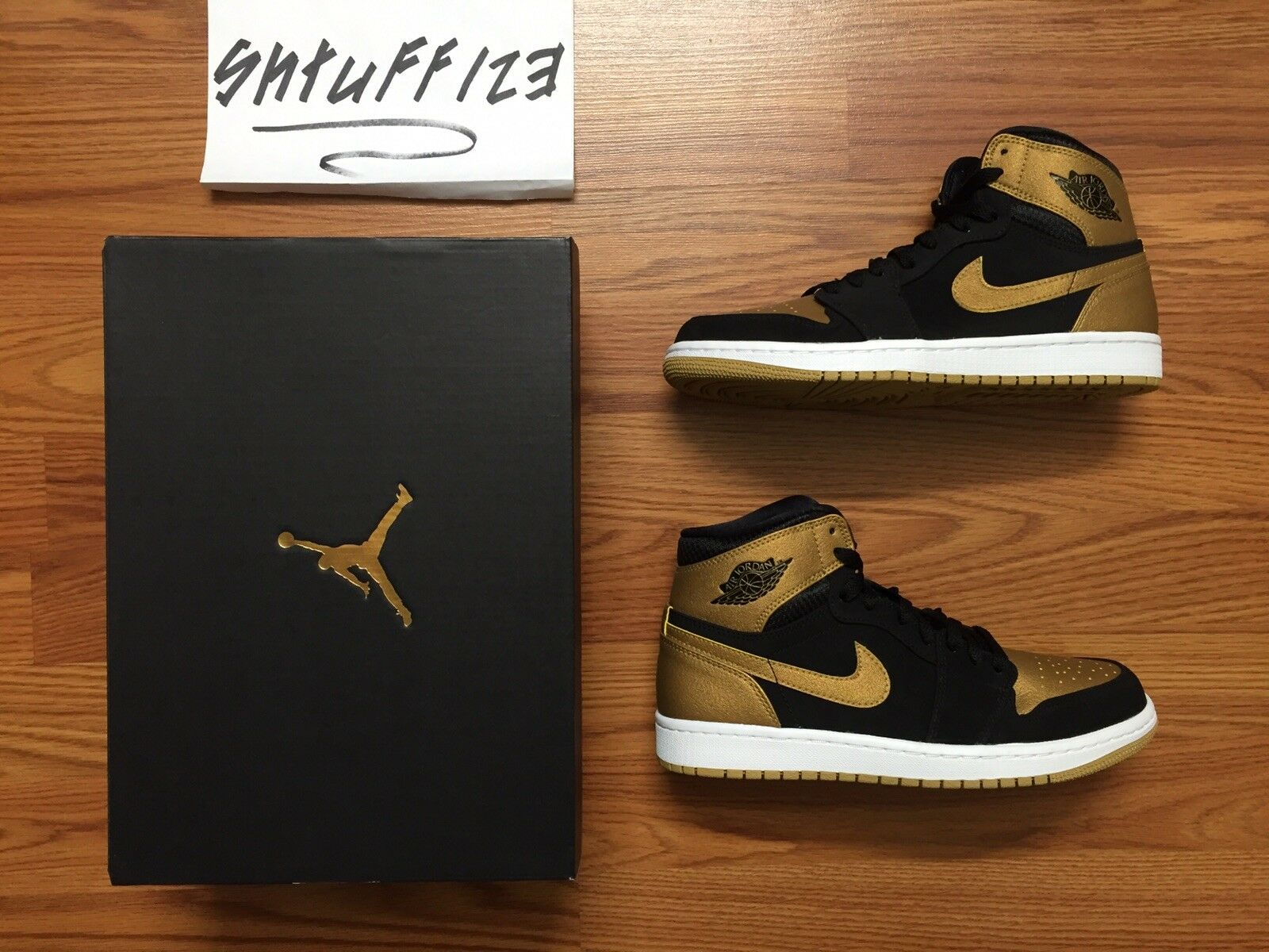 Nike Air Jordan 1 Melo Retro Retro Retro Black gold Carmelo Anthony 332550-026 Size 7.5 Mens c1905e