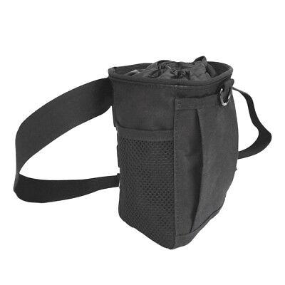 Weight Lifting Climbing Bouldering Chalk Powder Bag with Waist Belt Black