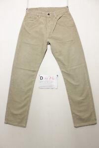 Levi-039-s-551-velluto-beige-Cod-D474-Tg-44-W30-L32-boyfriend-jeans-usato