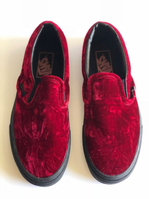 965f436e0d89 VANS Classic Slip-on Velvet Oxblood black Skateboarding Shoes Men s ...