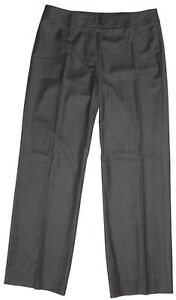 Burberry-London-Womens-Grey-Melange-Pants-Sz-12-5510