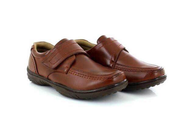 c668930018a Scimitar M839 Touch Fastening Lightweight Casual Leather Lined Wide Fit  Shoes T