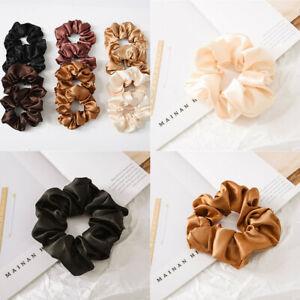 Silk-New-Tie-Rope-Scrunchies-Elastic-Rings-Satin-Ponytail-Holder-Hair-Women
