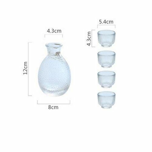 Sake Glass Bottle Handmade Japanese Flagon Cups Small Bar Liquor Jugs Wine Pot